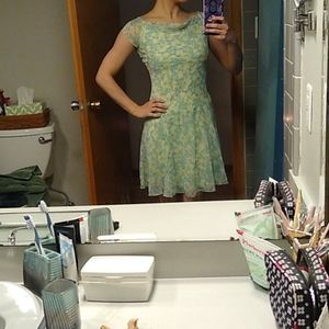 Printed green dress